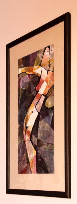 Nočný akt , akvarel, 50x88cm c